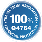 100% financial protection logo - blue